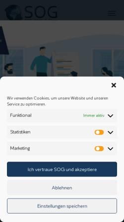 Vorschau der mobilen Webseite www.sog.de, SOG GmbH