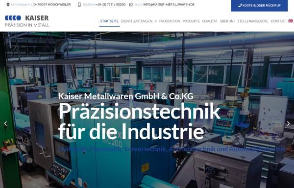 Vorschau von bischoff-metallwaren.de, Kaiser Metallwarenfabrik - Präzisionsdrehteile aus Messing und Aluminium