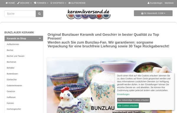 Vorschau von www.keramikversand.de, Bunzlauer Keramik - Keramikversand.de