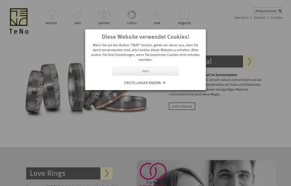 Vorschau von www.teno.de, TeNo Schmuck