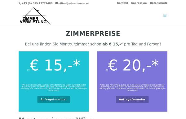 Vorschau von www.wienzimmer.at, Ferienwohnungen Familie Eichbererger