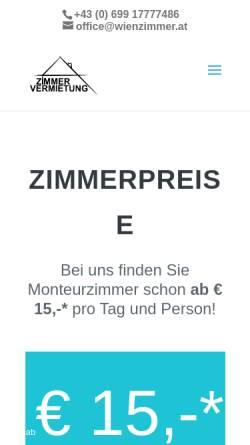Vorschau der mobilen Webseite www.wienzimmer.at, Ferienwohnungen Familie Eichbererger