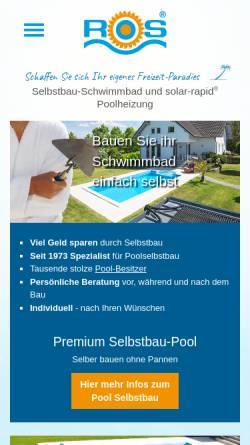 Vorschau der mobilen Webseite www.selbstbau.com, selbstbau.com - Schwimmbecken selbst bauen