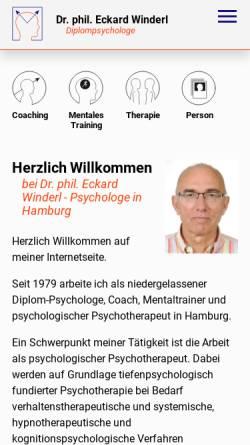 Vorschau der mobilen Webseite www.dr-winderl.de, Appartements Dr. Winderl