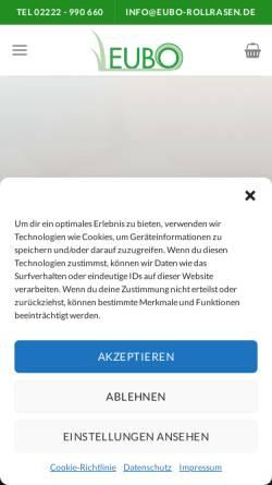 Vorschau der mobilen Webseite www.eubo-rollrasen.de, EUBO Rollrasen