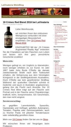 Vorschau der mobilen Webseite www.lavinateria.de, LaVinateria.de