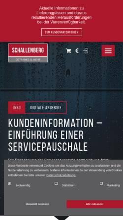 Vorschau der mobilen Webseite www.getraenke-schallenberg.de, Getränke Schallenberg in Bonn