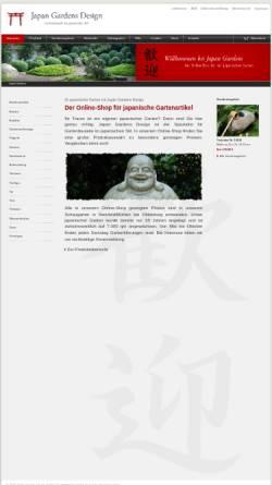 Vorschau der mobilen Webseite www.japan-gardens.de, japan-gardens.de - Alles für japanische Gärten