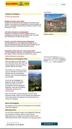 Vorschau der mobilen Webseite www.bulgarien-web.de, Bulgarien-Web.de