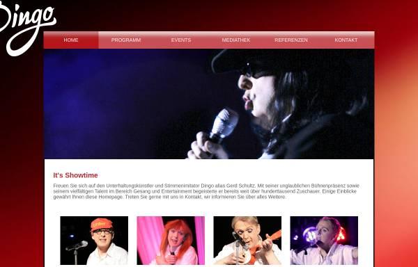 Vorschau von www.derdingo.de, Stimmenimitator Dingo - ein echtes Highlight für Ihre Veranstaltung