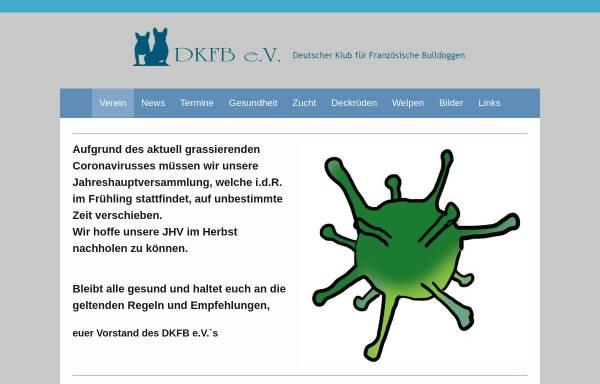 Vorschau von www.dkfb.club, Deutscher Klub für französische Bulldoggen Welpen