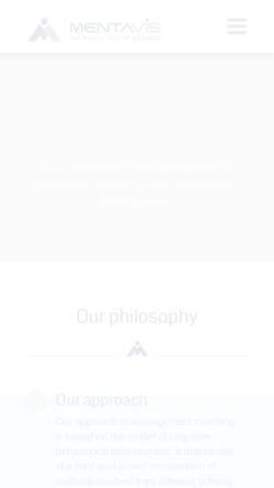 Vorschau der mobilen Webseite www.mentavis.com, Mentavis - Stärken fördern, Vielfalt nutzen