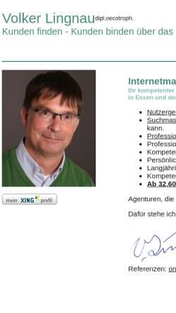 Vorschau der mobilen Webseite www.volker-lingnau.de, Volker Lingnau