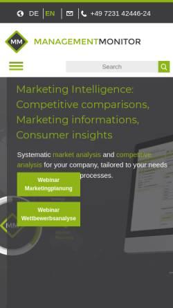 Vorschau der mobilen Webseite www.management-monitor.de, management-monitor.de