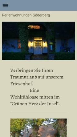 Vorschau der mobilen Webseite www.ferienwohnungen-soederberg-sylt.de, Ferienwohnung Keitum
