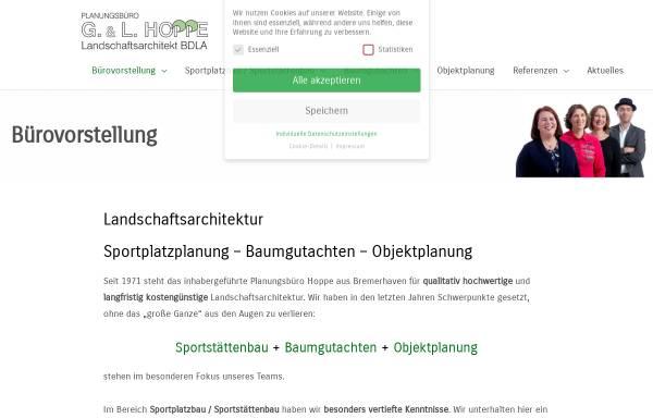 Vorschau von www.buero-hoppe.de, Landschaftsarchitekten G. & L. Hoppe