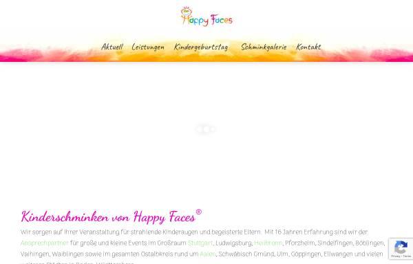 Vorschau von happyfaces-kinderschminken.de, Happy Faces® - Für das schönste Kinderlächeln