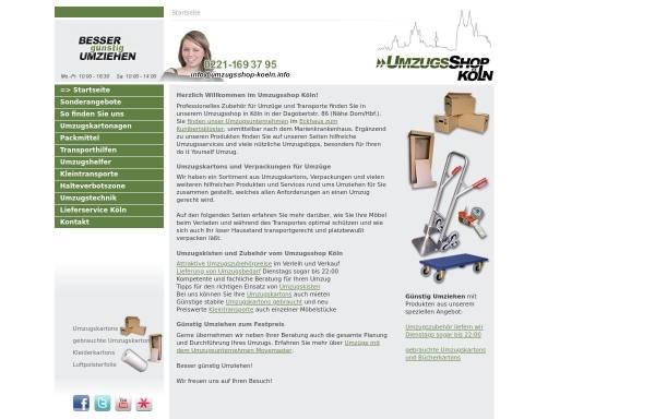Vorschau von www.umzugsshop-koeln.info, Movemaster - Umzugsberatung mit Umzugsshop in Köln