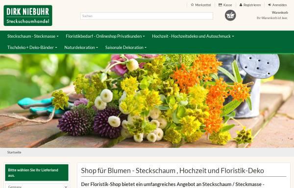 Vorschau von www.steckschaum-produkte.de, Dirk Niebuhr Steckschaumhandel