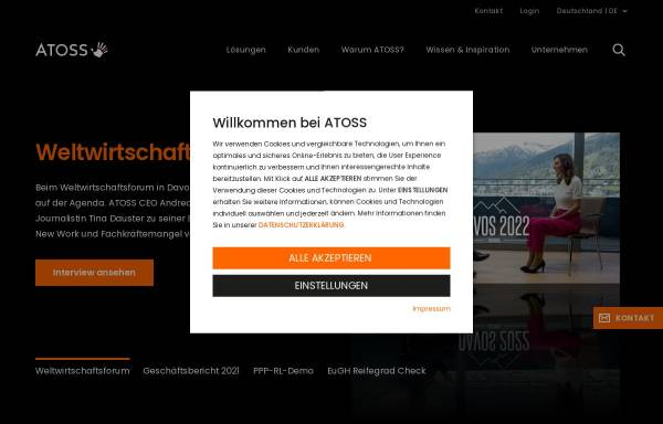Vorschau von www.atoss.com, Atoss AG - Medical Solution