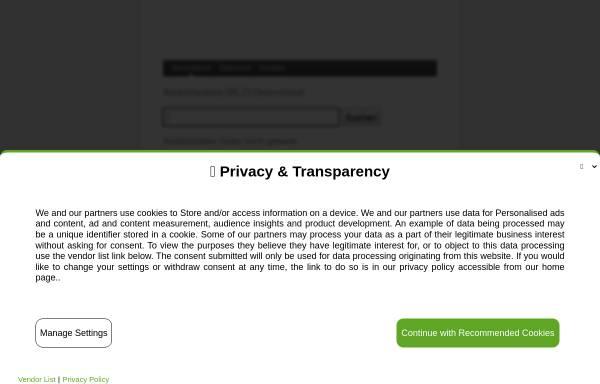 Vorschau von www.banksuche.com, Bankleitzahlen in Deutschland, Österreich und der Schweiz