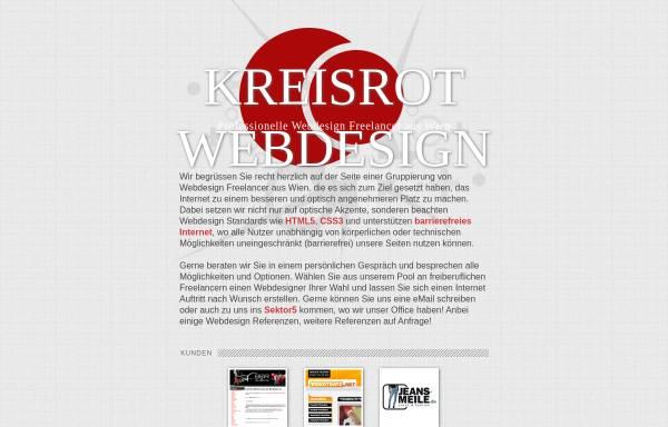 Vorschau von www.kreisrot.at, kreisrot corporate design