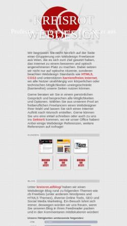 Vorschau der mobilen Webseite www.kreisrot.at, kreisrot corporate design