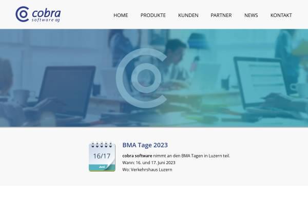 Vorschau von www.cobrasw.ch, Cobra Software AG