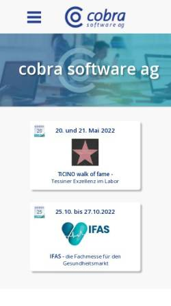 Vorschau der mobilen Webseite www.cobrasw.ch, Cobra Software AG