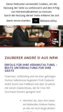 Vorschau der mobilen Webseite www.zauberer-andre.de, André eS!