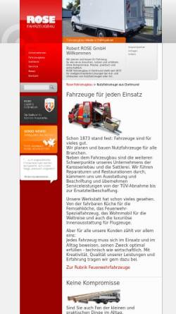 Vorschau der mobilen Webseite www.rose-fahrzeugbau.de, Rose Fahrzeugbau