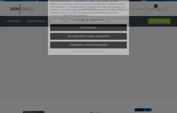 Vorschau von www.dgn.de, DGN Deutsches Gesundheitsnetz Service GmbH