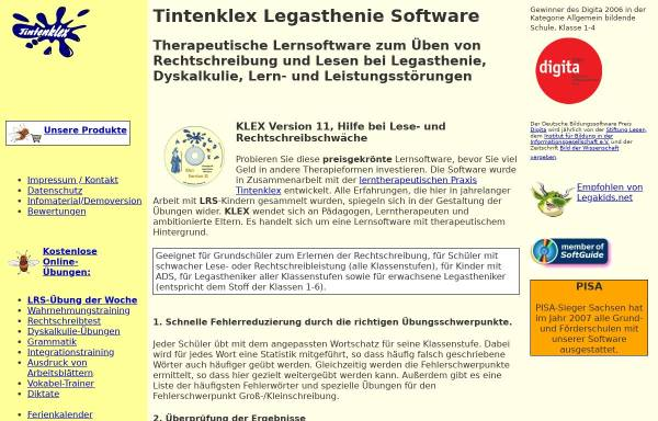 Vorschau von www.legasthenie-software.de, Dipl.-Ingenieur Jürgen Frerichs