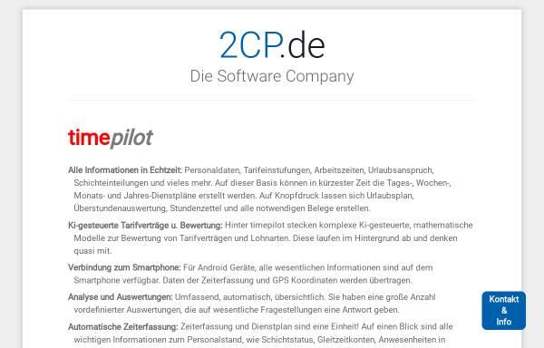 Vorschau von www.2cp.de, FoodPilot by CP Computer Projects GmbH