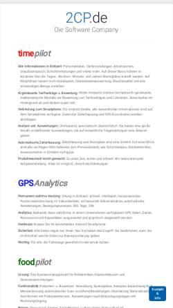 Vorschau der mobilen Webseite www.2cp.de, FoodPilot by CP Computer Projects GmbH