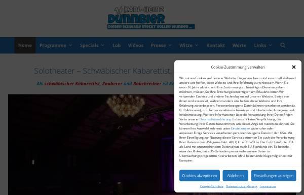 Vorschau von www.zauberer-kabarettist.de, Zauberer und schwäbischer Kabarettist Karl Heinz Dünnbier