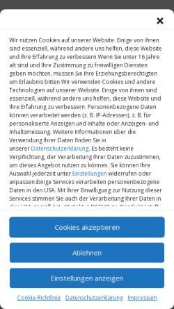 Vorschau der mobilen Webseite www.zauberer-kabarettist.de, Zauberer und schwäbischer Kabarettist Karl Heinz Dünnbier