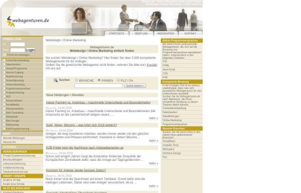 Vorschau von www.webagenturen.de, Webagenturen einfach finden
