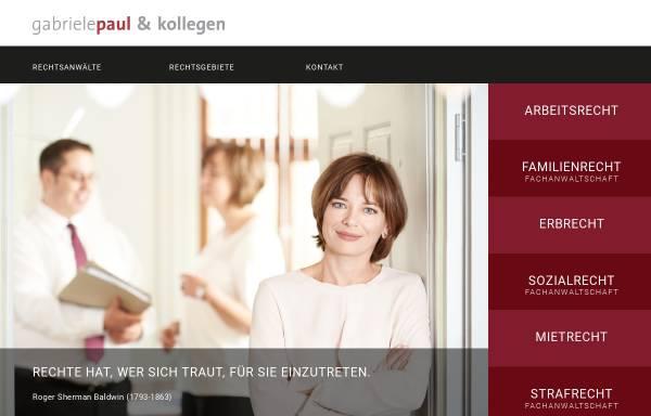 Vorschau von www.gabriele-paul.de, Kanzlei Gabriele Paul in Erlangen