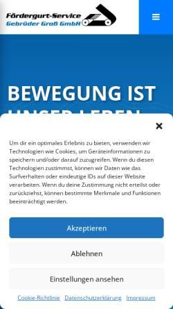 Vorschau der mobilen Webseite www.foerdergurtservice-gross.de, Fördergurt-Service Groß & Sohn KG
