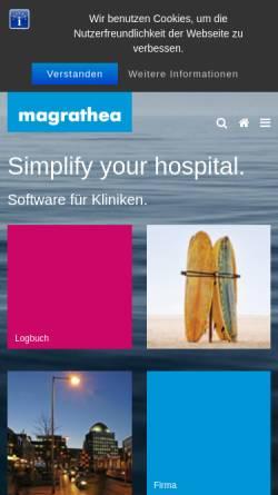 Vorschau der mobilen Webseite www.magrathea.eu, Magrathea Informatik GmbH