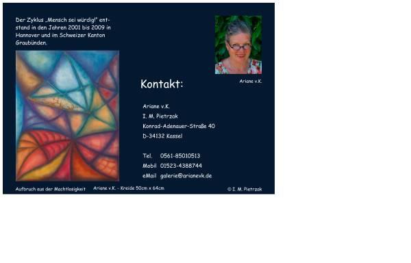 Vorschau von www.arianevk.de, Die wunderbare Galerie der Bilder von der unendlichen Liebe im Kleinen und im Großen