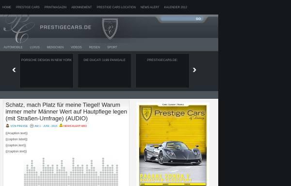 Vorschau von www.prestigecars.de, Prestige Cars Magazin