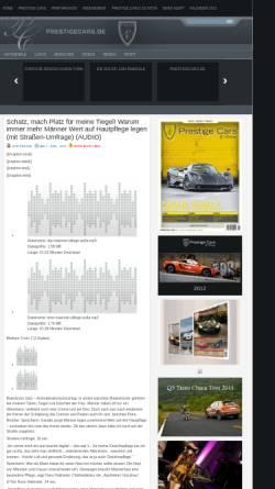 Vorschau der mobilen Webseite www.prestigecars.de, Prestige Cars Magazin