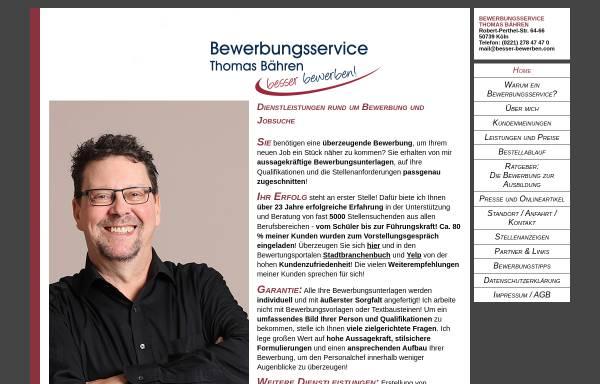 Vorschau von www.besser-bewerben.com, Bewerbungsservice Thomas Bähren