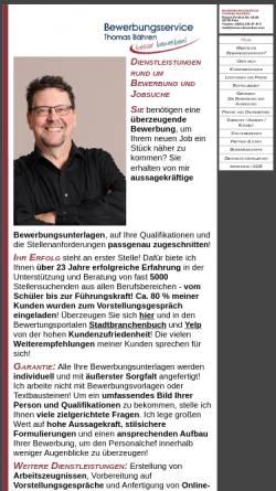 Vorschau der mobilen Webseite www.besser-bewerben.com, Bewerbungsservice Thomas Bähren