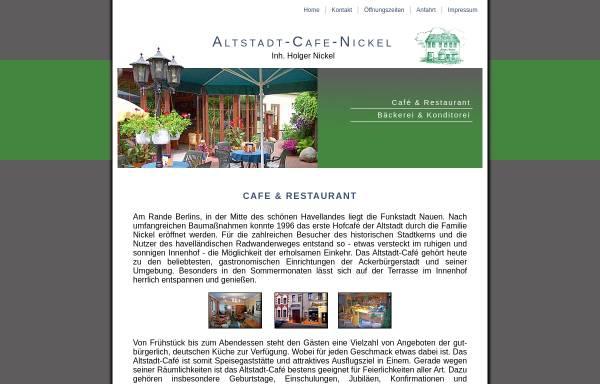 Vorschau von www.altstadt-cafe-nickel.de, Altstadt-Cafe Nickel in Nauen