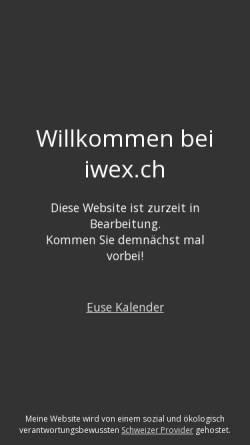 Vorschau der mobilen Webseite www.iwex.ch, iwex ag - Informations- und Wissensmanagement