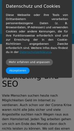 Vorschau der mobilen Webseite www.online-marketing-news.de, Online Marketing News Blog