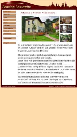 Vorschau der mobilen Webseite www.tyrian.de, Pension Tyrian Dresden